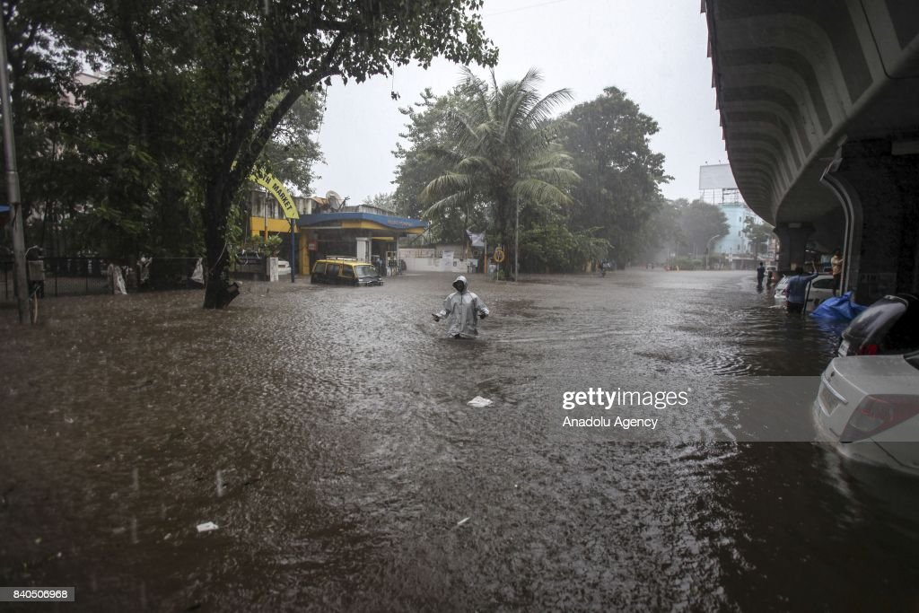 Heavy rain in Mumbai : News Photo