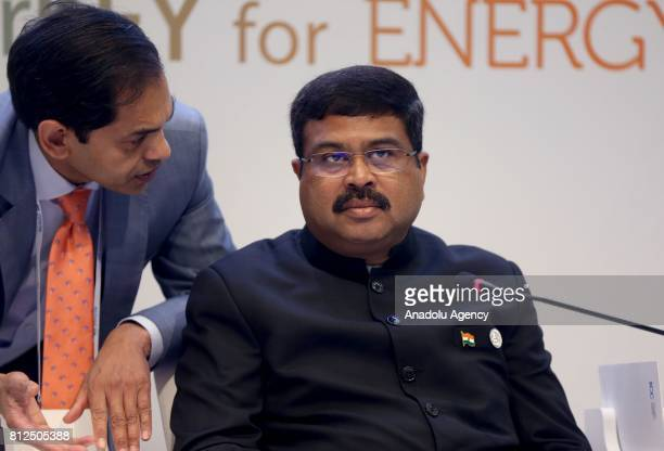 Indian Petroleum Minister Shri Dharmendra Pradhan attends the 22nd World Petroleum Congress in Istanbul Turkey on July 11 2017