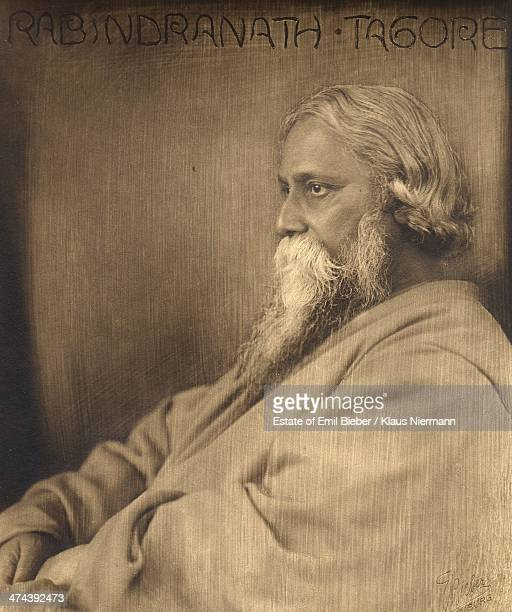 Indian philosopher poet and painter Rabindranath Tagore circa 1925