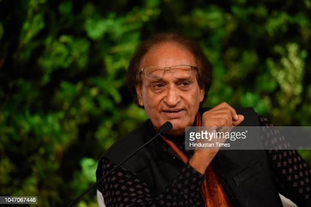 Indian Photographer and Associate Magnum Photos Raghu Rai during a second day of Hindustan Times Leadership Summit 2018 at Taj Palace on October 6...