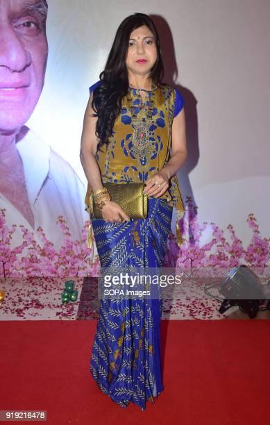 Indian playback singer Alka Yagnik present at the 5th Yash Chopra Memorial Award at hotel JW Marriott Juhu in Mumbai