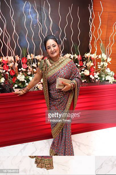 Indian playback singer Jaspinder Narula during prewedding party of singer Daler Mehndi's daughter Ajit Kaur with Navraj Singh son of singer Hans Raj...