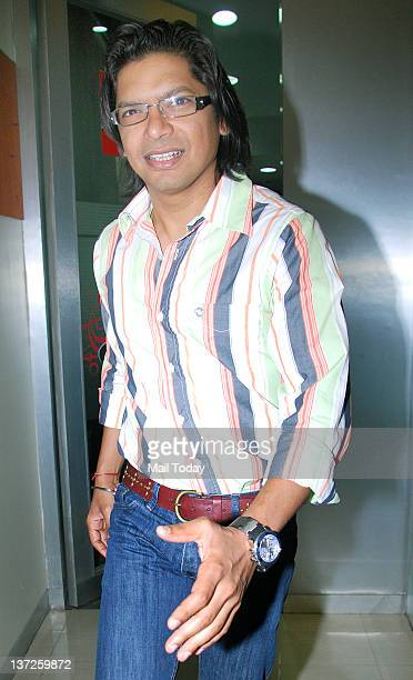 Indian playback singer Shaan arrives at an event held to launch the new jingle of 927 BIG FM