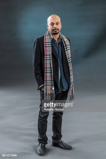 Indian poet playwright and performer Siddhartha Bose attends a photocall during the annual Edinburgh International Book Festival at Charlotte Square...