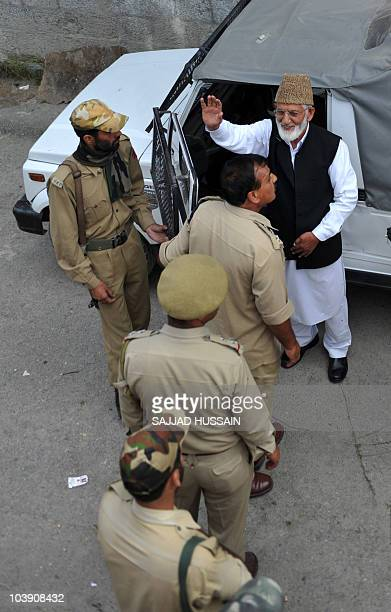 Indian police arrest chairman of the hardline faction of the All Parties Hurriyat Conference , Syed Ali Shah Geelani , who had threatened to...