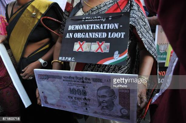Indian Political Party Congress Supporter a the part in the protest rally and celebrates the Black Day and protest against BJP Government As...