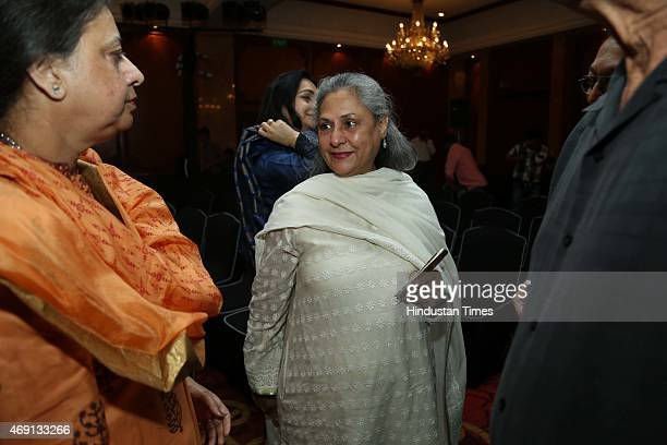 Indian politician and actor Jaya Bachchan during the launch of the book 'Mantras for Success' India's Greatest CEO's Tell How to Win authored by...