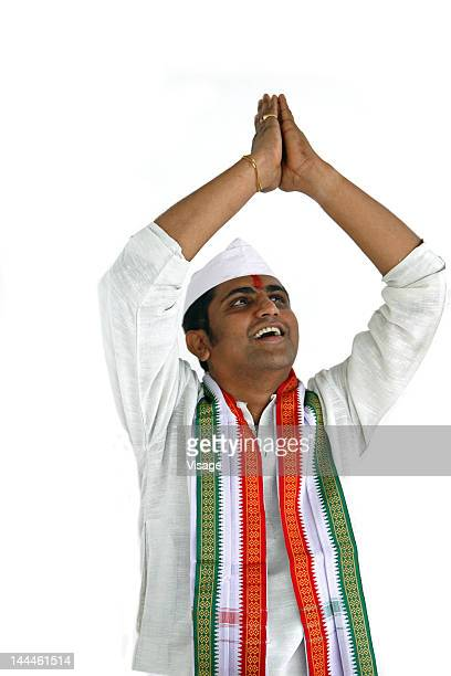 Indian politician greeting, namaste