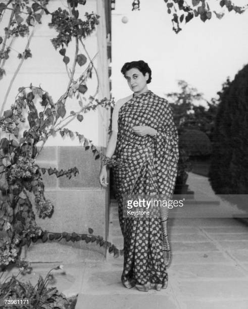 Indian politician Indira Gandhi circa 1960