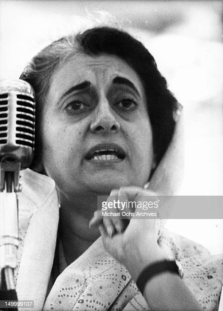 Mrs Indira Gandhi Prime Minister of India since 1966 the daughter of the late Pandit Nehru who was India's first Prime Minister Born 1917 she joined...
