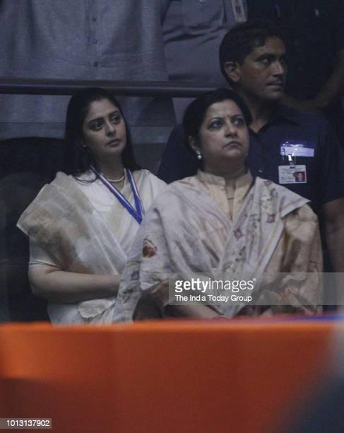 Indian Politician Nagma during Mahila Adhikar Sammelan in New Delhi