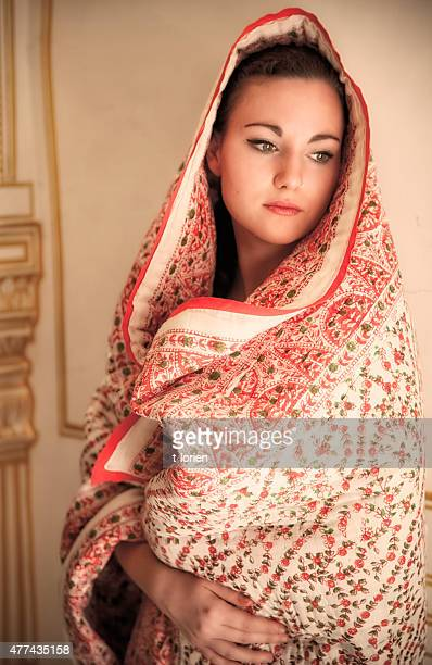 indian portrait. - shawl stock pictures, royalty-free photos & images