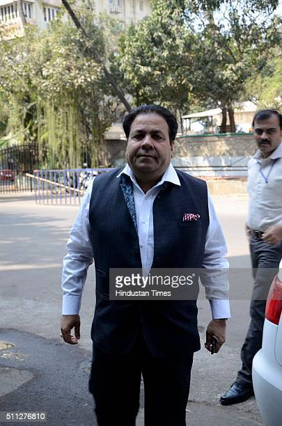Indian Premier League Chairman Rajeev Shukla arrives at BCCI head office for BCCI special general meeting at Church Gate on February 19 2016 in...