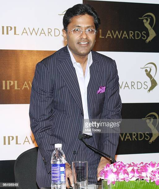 Indian Premier League commissioner Lalit Modi arrives for a press conference anouncing 'IPL Awards' in Mumbai on April 14 2010