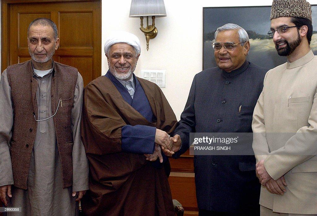 Indian Prime Minister Atal Behari Vajpay : News Photo