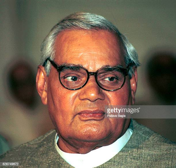 Indian Prime Minister Atal Bihari Vajpayee before his departure for the regional security meeting at Almaty Kazakhstan Even though Pakistani...