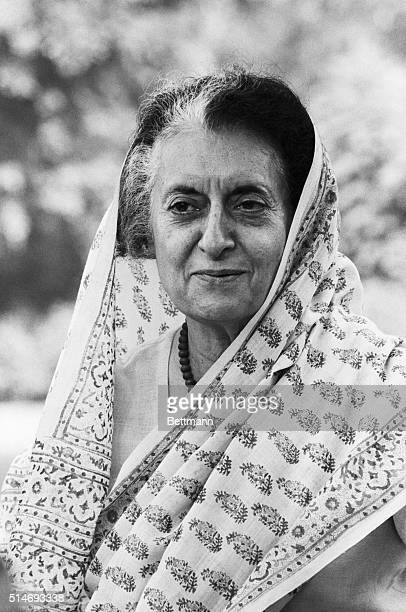 Indian Prime Minister Indira Gandhi in October of 1984, less than three weeks before she was assassinated by her own bodyguards.