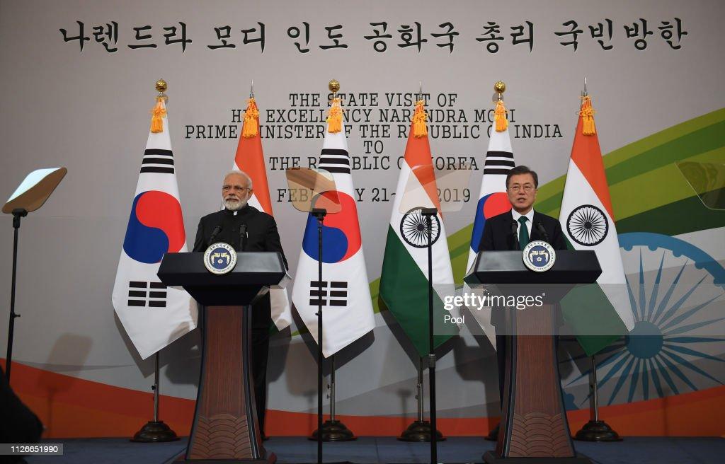 KOR: Indian Prime Minister Narendra Modi Visits South Korea