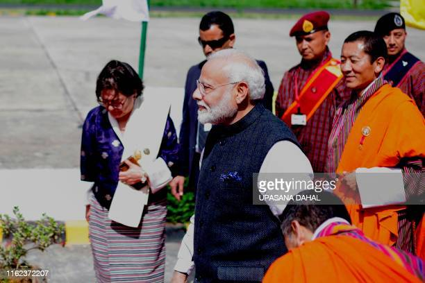 Indian Prime Minister Narendra Modi departs from Paro International airport on August 18 after his twoday official visit to Bhutan