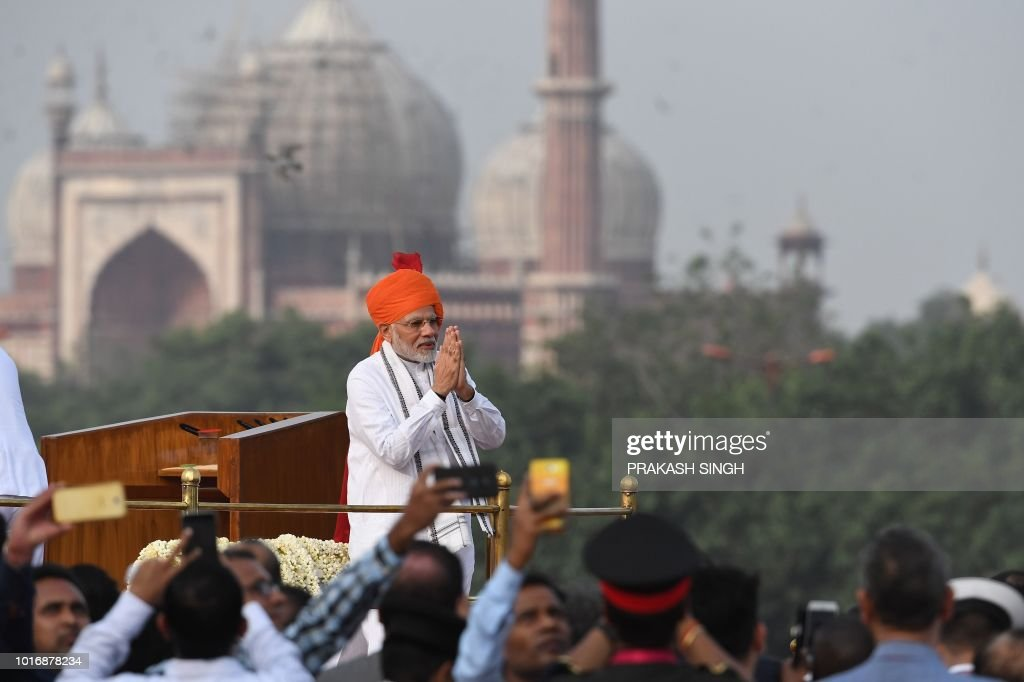 Indian prime minister narendra modi gestures a traditional greeting india politics independence news photo m4hsunfo