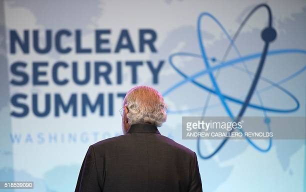 Indian Prime Minister Narendra Modi looks on during a bilateral meeting with Canadian Prime Minister Justin Trudeau at the 2016 Nuclear Security...