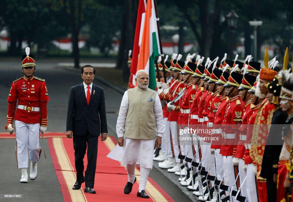INDONESIA-Indonesia-India-DIPLOMACY : News Photo