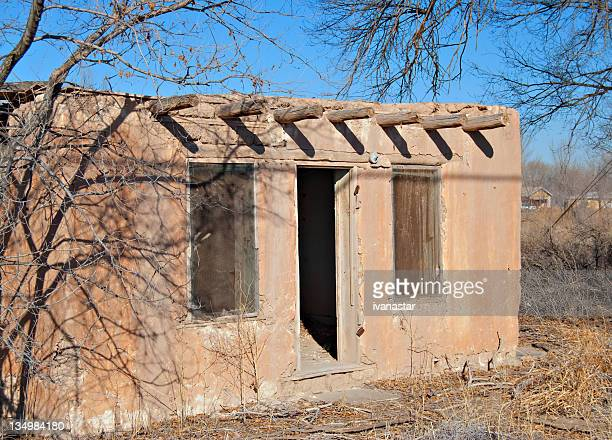 Indian Pueblo Adobe House Ruin