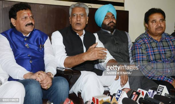 Indian Punjab Congress President and Member of Parliament Sunil Jakhar along with Member of Parliament Gurjeet Singh Aujla Members of Legislative...