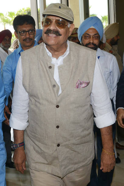Indian Punjab state Governor VP Singh Badnore arrives to attend the 64th Annual General Body Meeting and Elections of the All India Federation of...