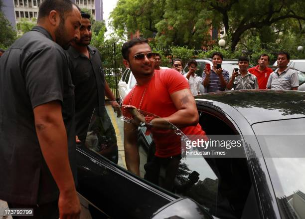 Indian Punjabi and Bollywood singer Honey Singh at HT Media office on July 9 2013 in New Delhi India Honey Singh has received the ETC award for the...