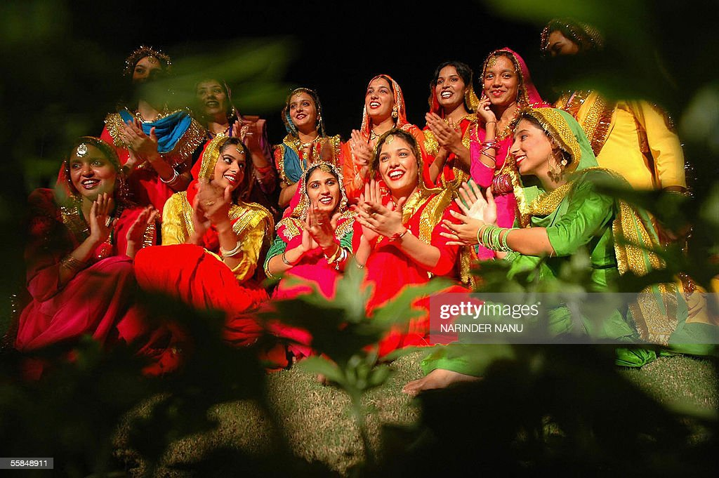 Indian Punjabi girls perform a traditional Punjabi Gidda during an IndiaPakistan national conference on Tourism and Economic Development policy...
