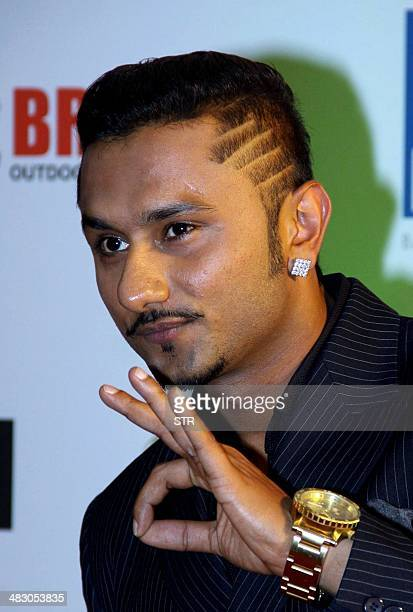 Indian rapper music producer singer Honey Singh attends the 'Femina Miss India 2014' grand finale in Mumbai on April 5 2014 AFP PHOTO