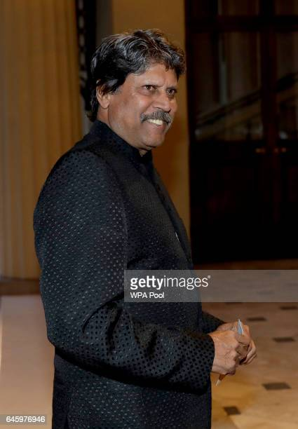 Indian retired cricket player attends a reception this evening to mark the launch of the UKIndia Year of Culture 2017 on February 27 2017 in London...