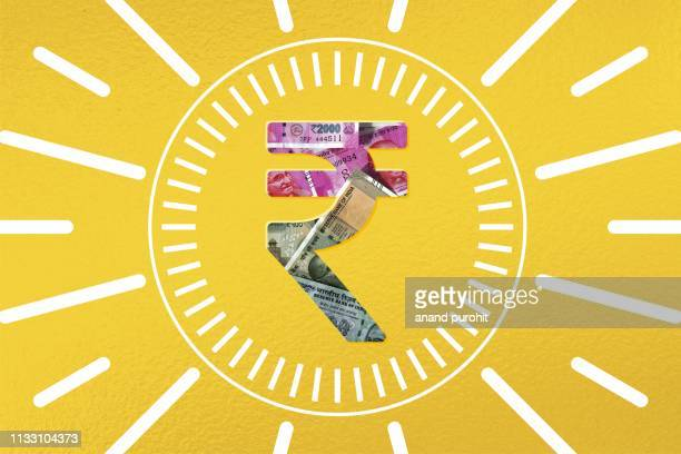 indian rupee concepts - indian currency stock photos and pictures