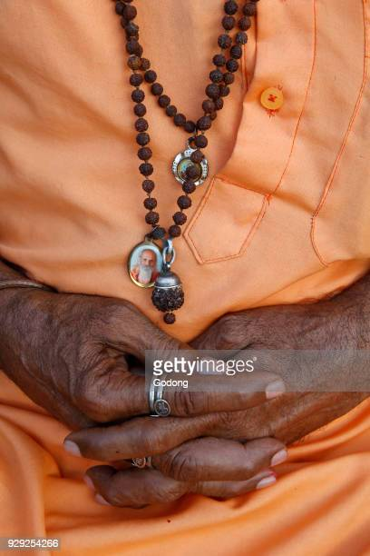 Indian sadhu's hands India