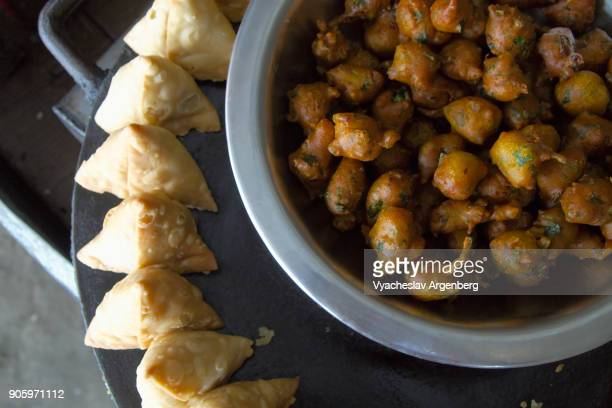 Indian Samosa, traditional Indian food