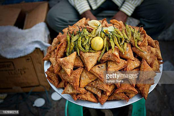 indian samosas - samosa stock photos and pictures