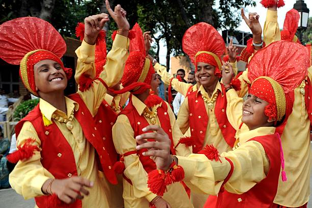 Indian school boys perform the `Bhangra` dance during celebrations of India`s Independence Day at the IndiaPakistan border in Wagah on August 15 2011.