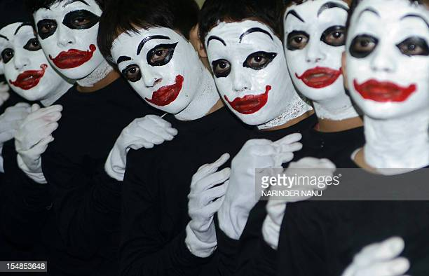 Indian school boys wait for their turn to mime during a school function at the Shri Ram Ashram Public School in Amritsar on October 272012 AFP...