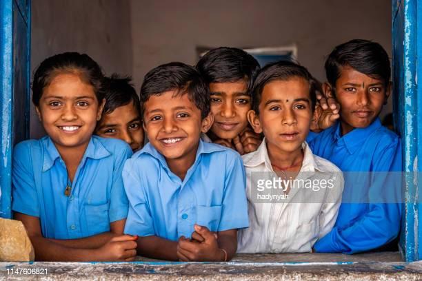 indian school children in classroom, rajasthan, india - sri lankan school girls stock photos and pictures