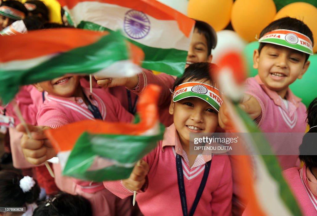 Indian school children of prepartory sch : News Photo