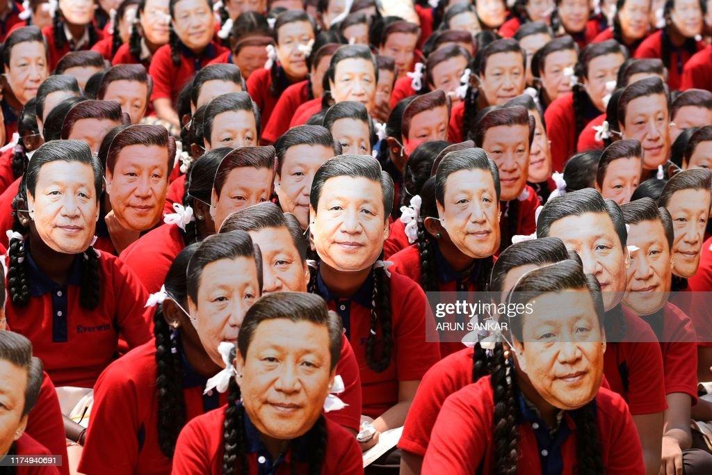 TOPSHOT-INDIA-CHINA-DIPLOMACY : News Photo