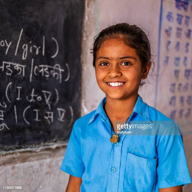 Indian schoolgirl in classroom