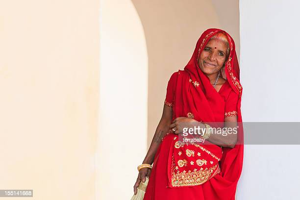 Indian Senior Woman Traditional Clothes