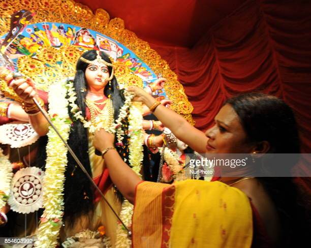 Indian Sex Workers part in the Durga Puja at Asia Biggest Red Light area on September 272017 in Kolkata cityIndia
