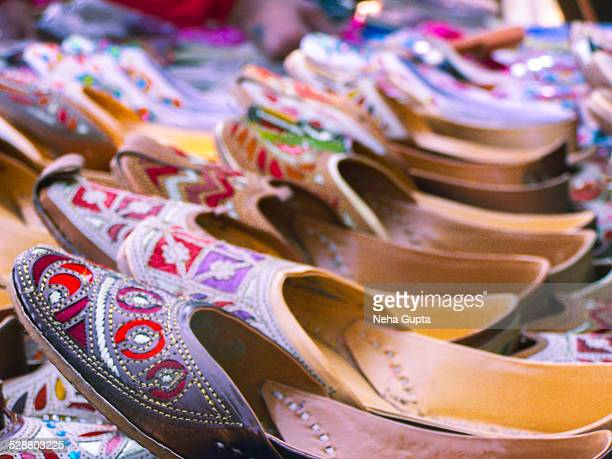 indian shoes - neha gupta stock pictures, royalty-free photos & images