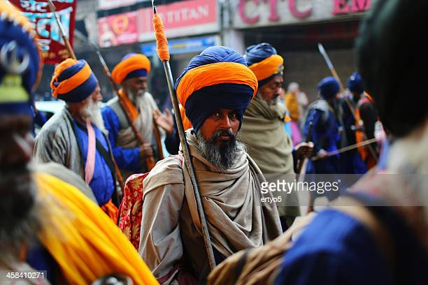 Indian Sikh devotees de marzo