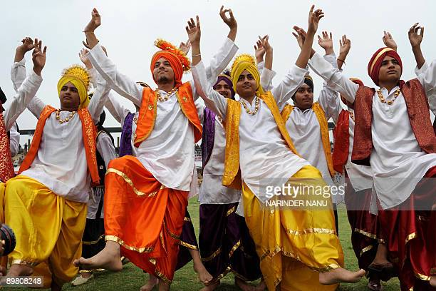 punjabi bhangra dance stock photos and pictures getty images