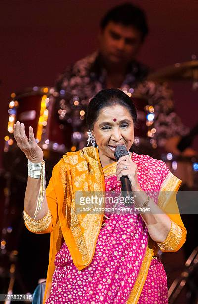 Indian singer Asha Bhosle performs at the '75 years of Asha' concert at Carnegie Hall New York New York April 17 2008