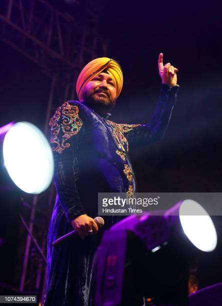 Indian Singer Daler Mehndi performs at Hindustan Times Palate Fest 2018 at Nehru Park December 16 2018 in New Delhi India